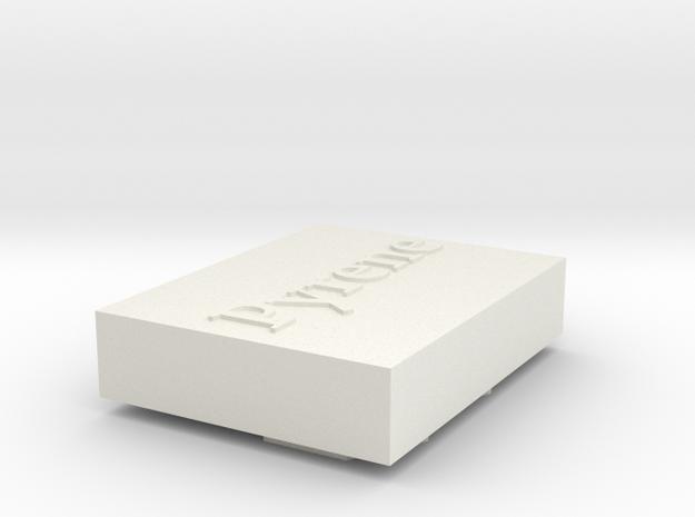 Pyrene Stamp in White Natural Versatile Plastic
