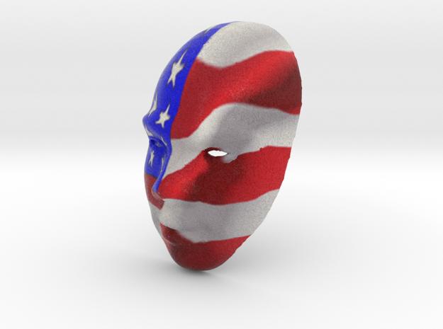 American Mask.wrl in Full Color Sandstone