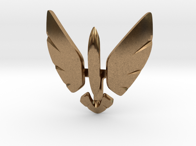 Eagle Jet Moded pendant in Natural Brass