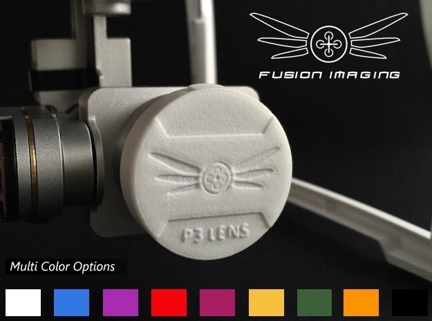 DJI Phantom 3 Lens Cap in White Processed Versatile Plastic