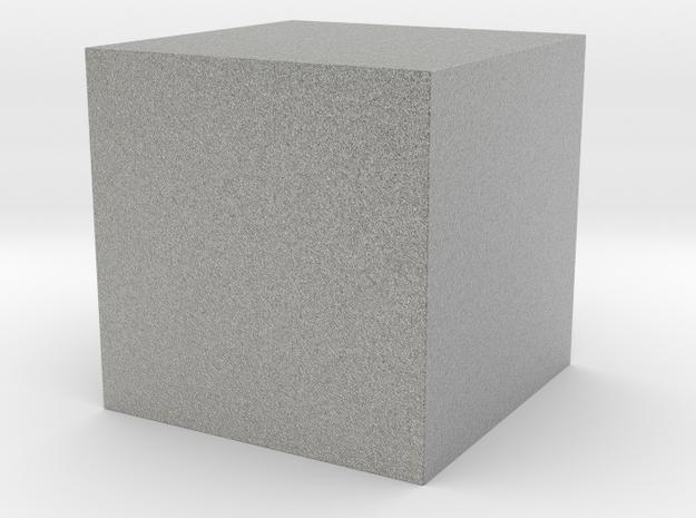 50x50 Solid Cube in Metallic Plastic