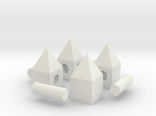 Peg House in White Natural Versatile Plastic