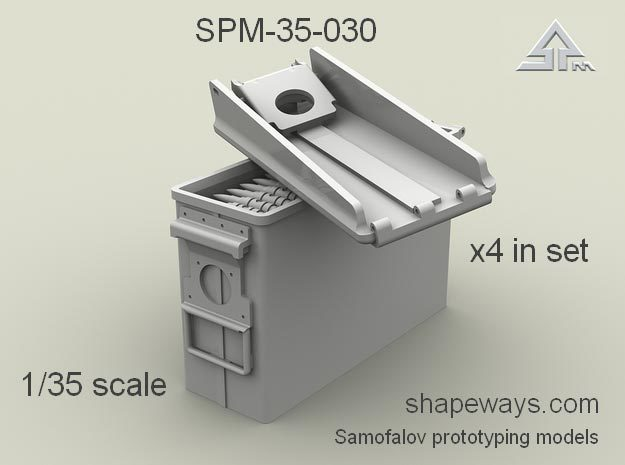 1/35 SPM-35-030  30.cal (7,62mm) ammobox opened in Smoothest Fine Detail Plastic