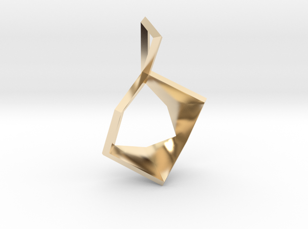 Cube Blossom Pendant in 14k Gold Plated Brass