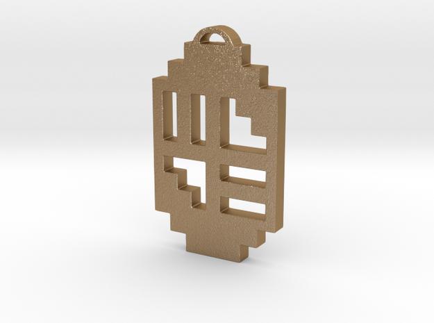 "Journey Pendant- ""Scandinavia"" Symbol in Matte Gold Steel"