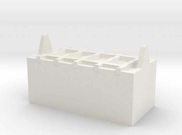 M14-Back Storage in White Strong & Flexible