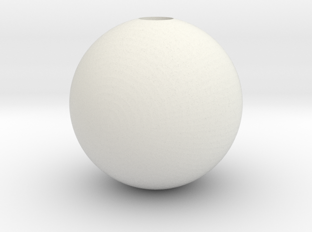 Sphere 1in Hollow in White Natural Versatile Plastic