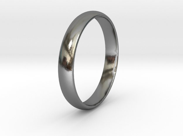 Ring Size 11 1I2 smooth in Polished Silver