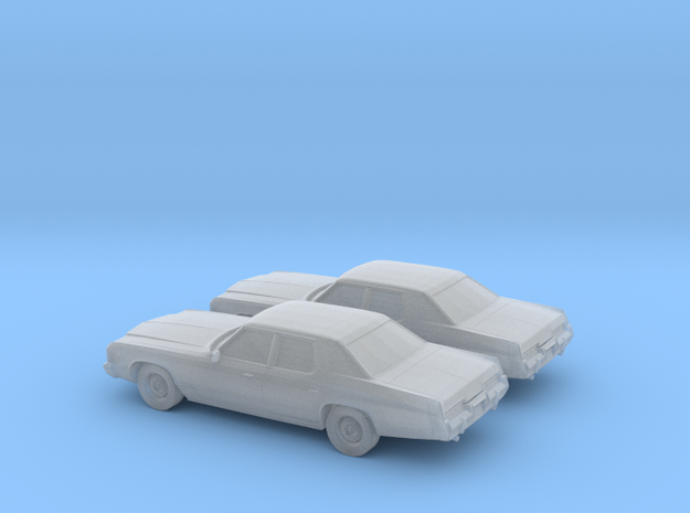 1/160 2X 1974 Dodge Monaco in Smooth Fine Detail Plastic
