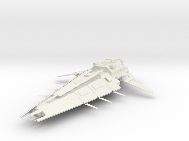 Battle Cruiser II in White Natural Versatile Plastic