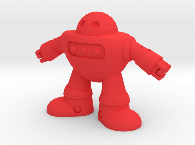 Barry the robot in Red Processed Versatile Plastic