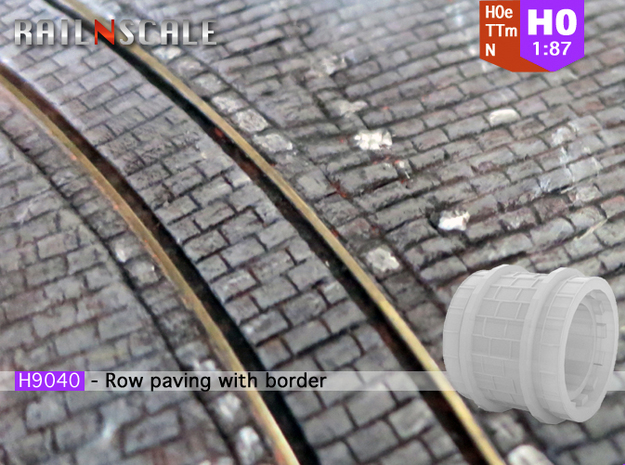 Row paving with border (H0e 1:87)
