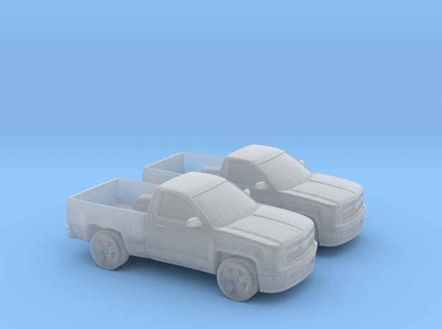 1/160 2X 2015 Chevrolet SILVERADO Single Cab in Smooth Fine Detail Plastic