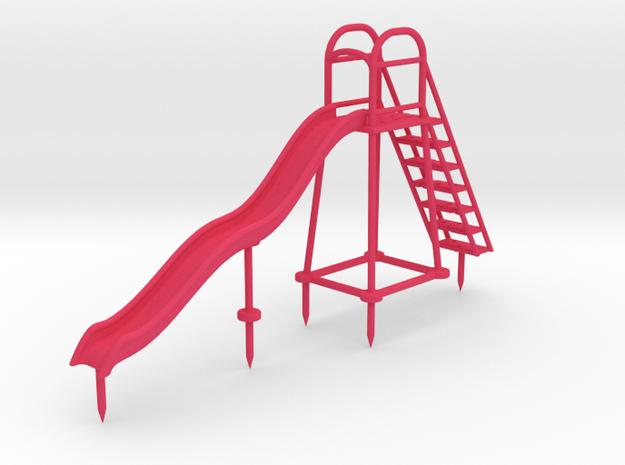 Children's Wave Slide, HO Scale (1:87) 3d printed