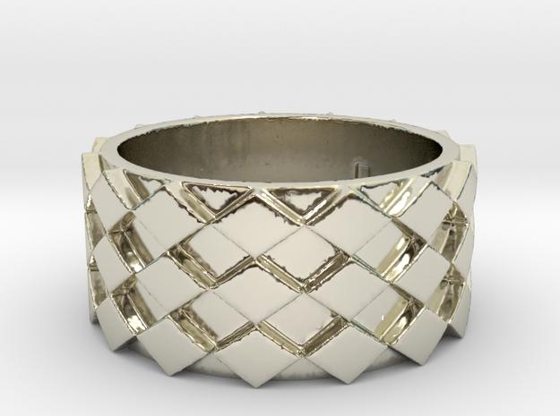Futuristic Diamond Ring Size 8 in 14k White Gold