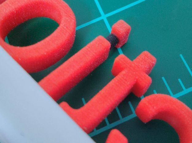 "Collection-O-Stuff Sign 3d printed ""i"" detail"