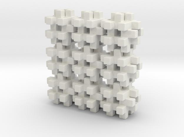 Buildblocks Variant 3v6 in White Natural Versatile Plastic