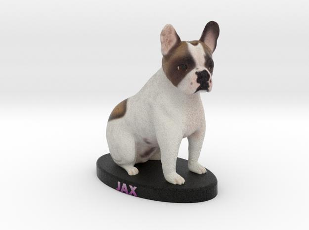 Custom Dog Figurine - Jax in Full Color Sandstone