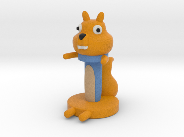Squirrel Cable Holder in Full Color Sandstone