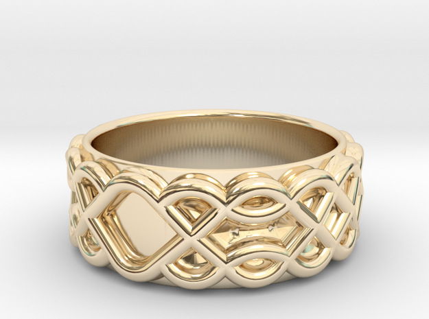 Celtic Wedding Ring - Size 12 1/2 in 14K Yellow Gold