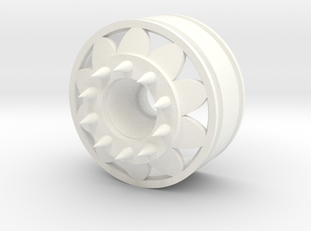Custom front rim with spike bolts in White Processed Versatile Plastic