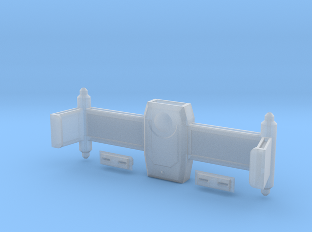 Dorsal Weapons Rollbar With Torpedo Launcher Faces in Smooth Fine Detail Plastic