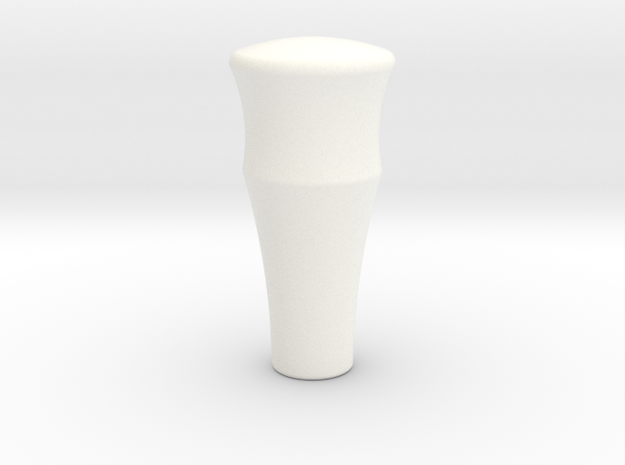 A90 Atlantic Gear Knob with BSF1/4 thread in White Processed Versatile Plastic