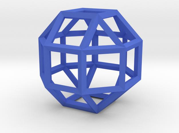 Rhombicuboctahedron(Leonardo-style model) in Blue Strong & Flexible Polished