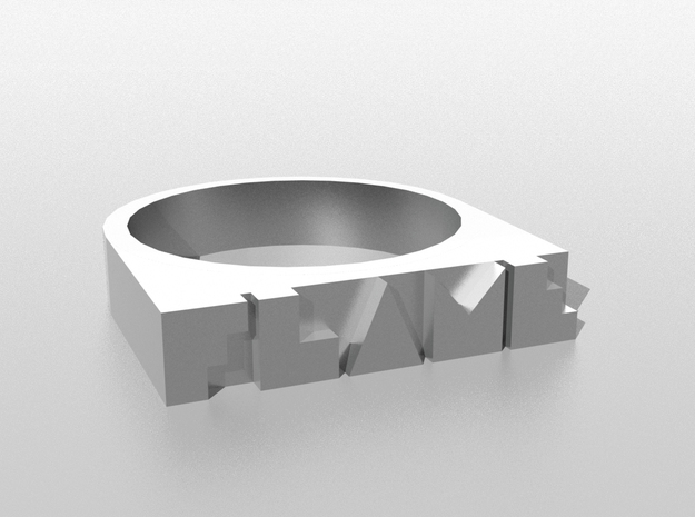 """""""FLAME"""" Ring 3d printed Image of the publication will be sample only. Appearance depends on the material you choose."""