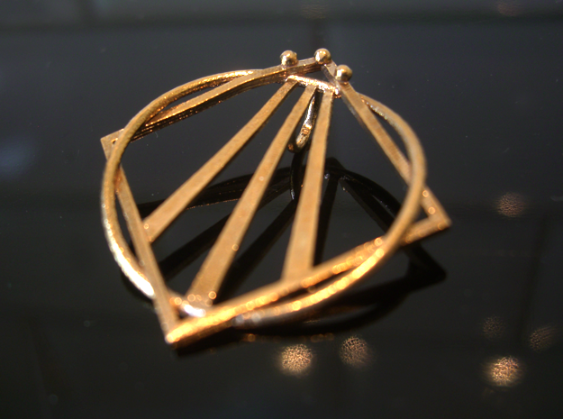 Awen Bard Pendant in Natural Bronze