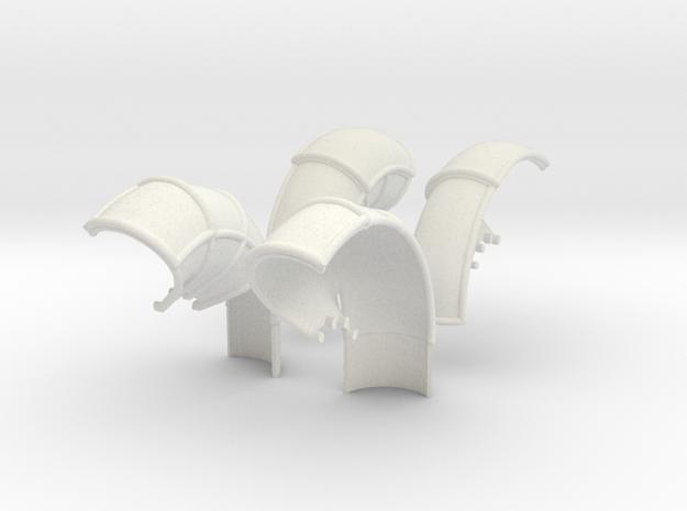 10-Folded LRV - Fenders in White Natural Versatile Plastic