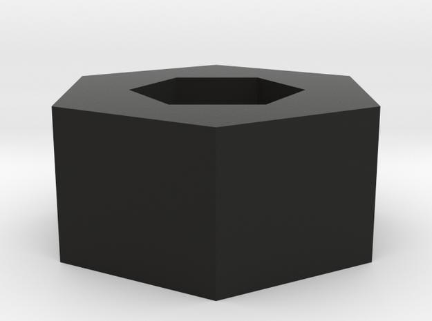 Pentagon Pendant in Black Natural Versatile Plastic