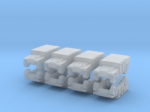 1/200 Humvee M1035 set of 8 in Smooth Fine Detail Plastic