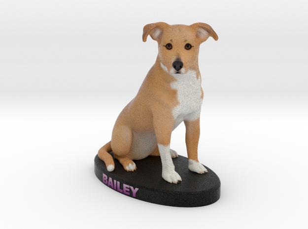 Custom Dog Figurine - Bailey in Full Color Sandstone