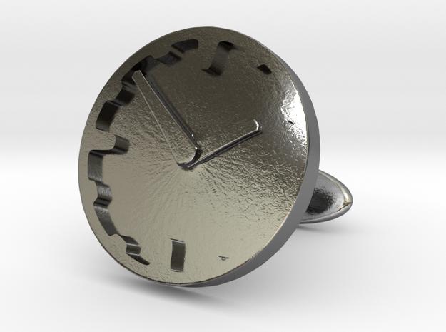 Clock Cufflink 3d printed