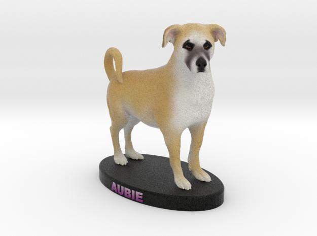 Custom Dog Figurine - Aubie in Full Color Sandstone