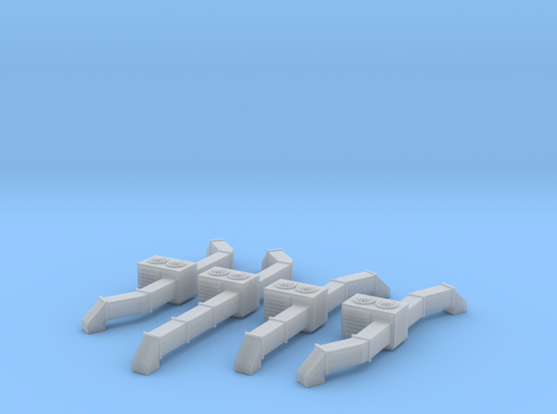 Rooftop AC Unit Set Of 4 Z Scale in Smooth Fine Detail Plastic