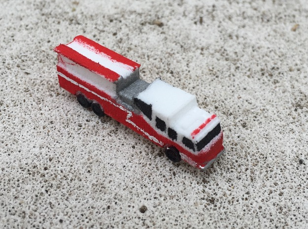 Pierce Saber Tanker 1:285 scale in White Strong & Flexible
