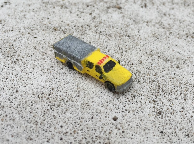 Ford Light Rescue/Squad 1:285 scale in White Strong & Flexible