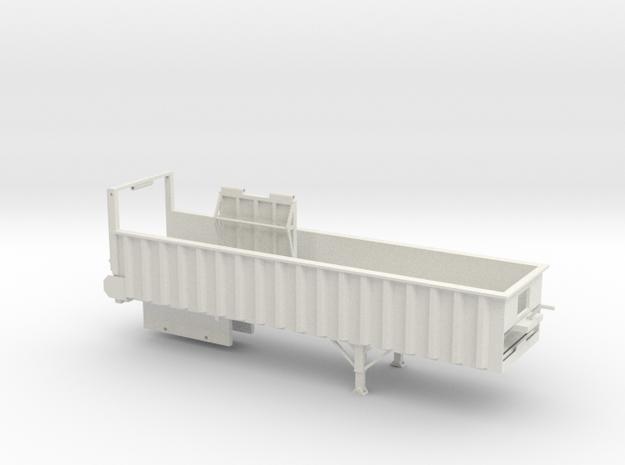 1/64 34' Silage Trailer in White Natural Versatile Plastic