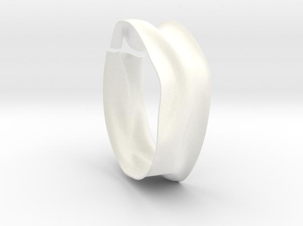 Drape Bracelet B in White Processed Versatile Plastic