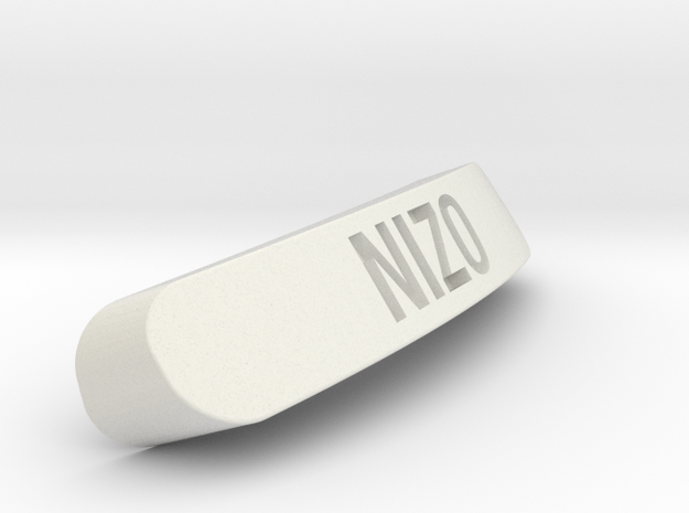 NIZO Nameplate for Steelseries Rival in White Natural Versatile Plastic