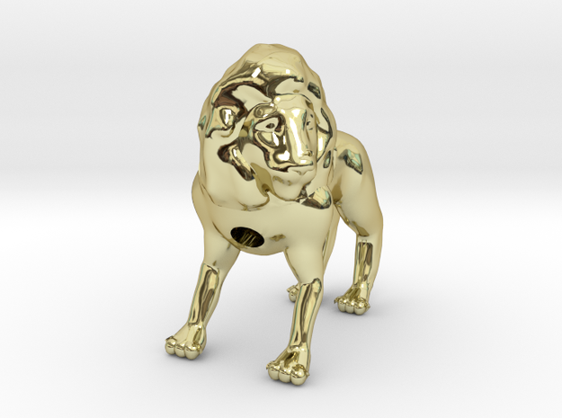 Lion in 18k Gold Plated Brass