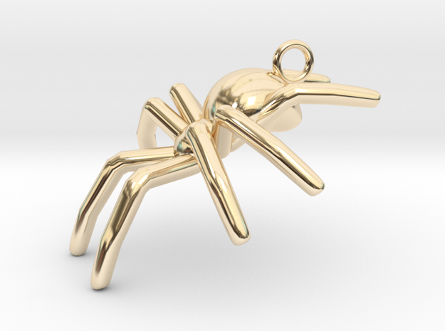 Spider in 14k Gold Plated Brass