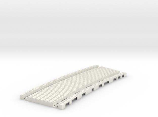 P-45st-tram-long-curve-200-1a in White Natural Versatile Plastic