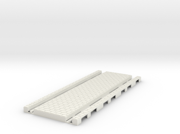 P-45st-tram-long-straight-200-1a in White Natural Versatile Plastic