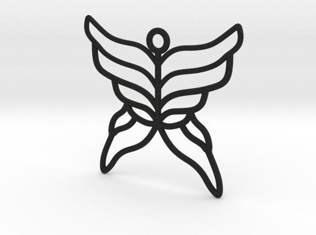 Butterfly Pendant in Black Strong & Flexible