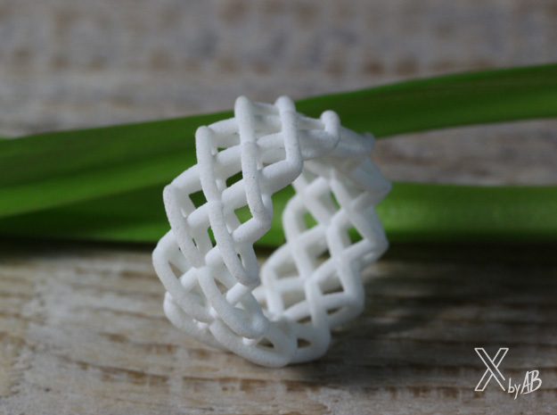 Cross-Stitches Ring 8.7 in White Natural Versatile Plastic