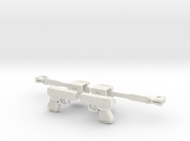 Gun in White Natural Versatile Plastic