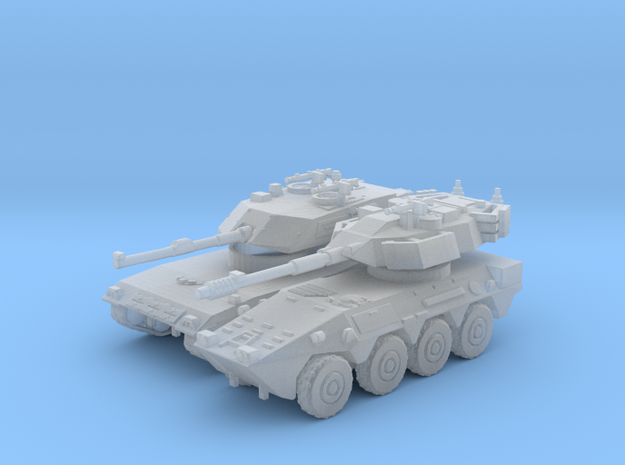 1/200 Centauro arm. car and C1 Ariete tank in Smooth Fine Detail Plastic